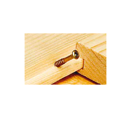 Screws Visible Fastening Steel Yellow Zinc Plated