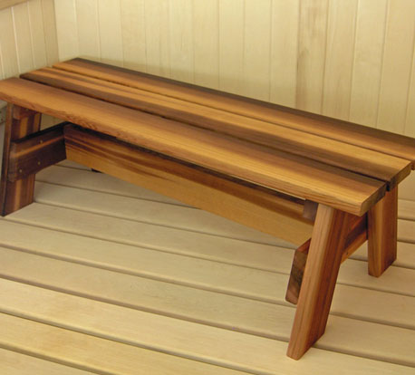 Sauna Wood Bench